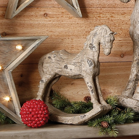 Rustic and distressed holiday rocking horse