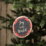 Festive Signs with Holiday Sayings Chalkboard and Red Plaid
