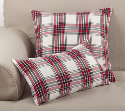 Red and Black Plaid Holiday Pillow
