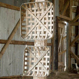 Square Tobacco Baskets - Set of Two