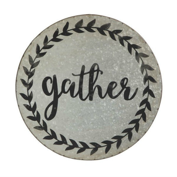 "Tin ""Gather"" Sign"