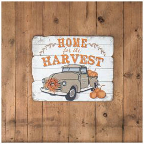 Home for the Harvest Wood Wall Sign for Fall or Autumn