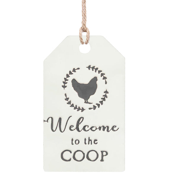 Welcome to the Coop Metal Wall Decor