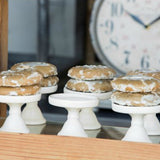 White Ceramic Cupcake Stands Set of Six