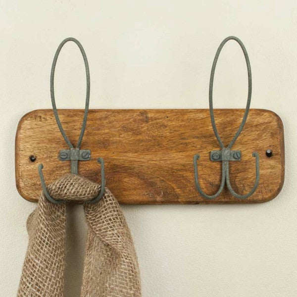 Wood and Metal Coat Rack