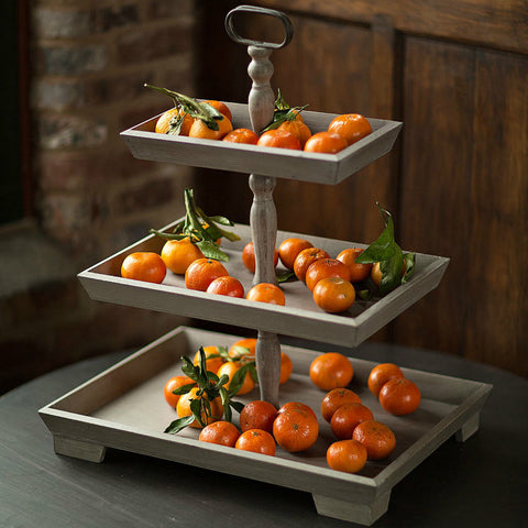 The Raleigh Wooden Three Tier Tray