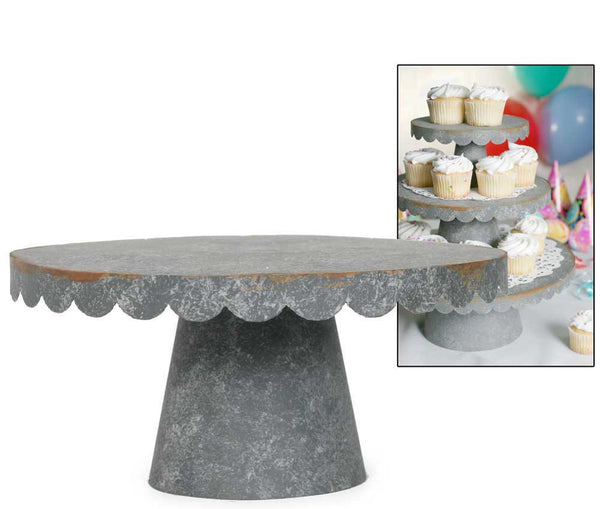 Choose Medium White Scalloped Cake Stand to meet this need! This piece features a simple white stand topped off with a plate with scalloped edges. Place this piece on a table, display your food, and enjoy the beauties of a gorgeous table setting!5/5.