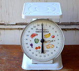 White Vintage Kitchen Scale