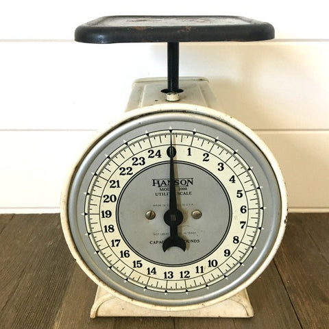 Vintage Black and White Hanson Utility Scale - 2000