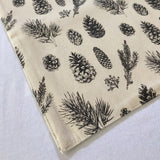 Woven Cotton Pinecone Table Runner