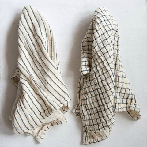 Natural Farmhouse Tea Towels - Set of Two