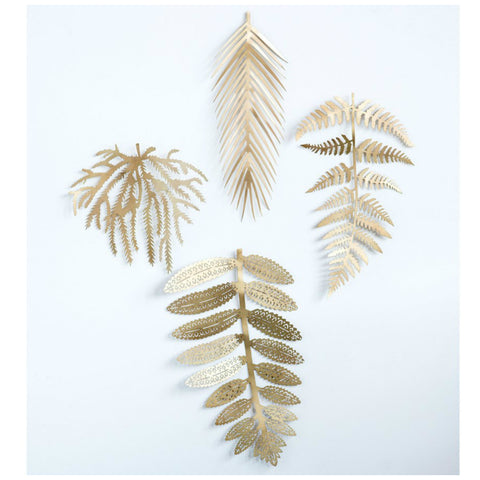 Metal Leaf Wall Decor - Set of Four