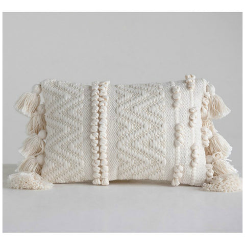 Luna Cotton Textured Lumbar Pillow