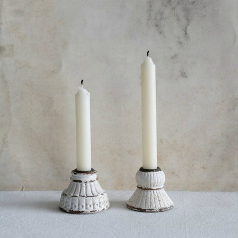 Embossed Candle Holder - Set of Two