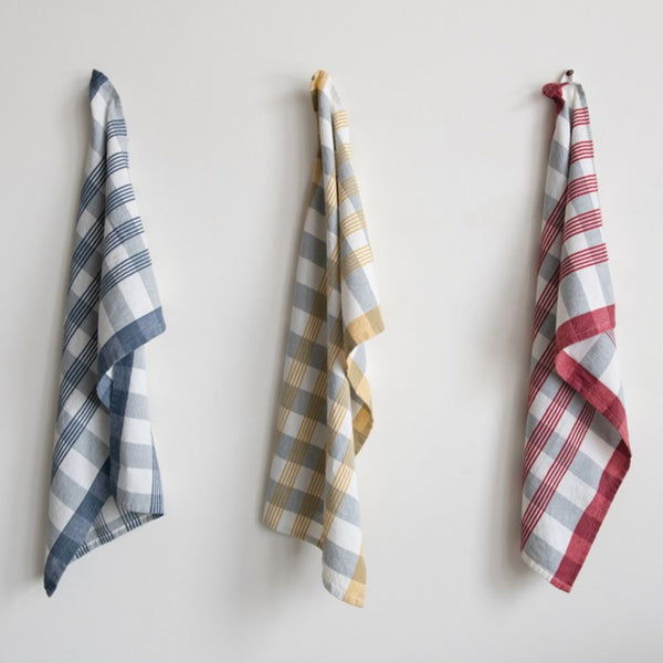 Colorful Check Tea Towels - Set of Three