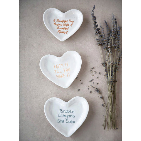 Inspirational Trinket Dish - Set of Three