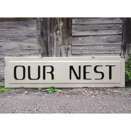 Our Nest Wall Sign