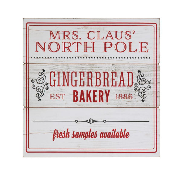 """Mrs. Claus' North Pole"" Wall Sign"