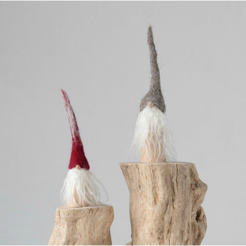 Holiday Wool Felt Gnomes- Set of Two