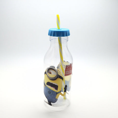Zak! minions Soda Bottle with Straw 迷你兵團 汽水樽連飲管 570ml