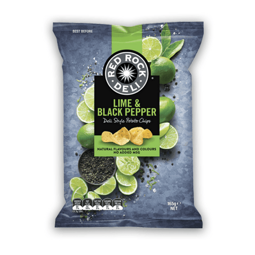 Red Rock Deli - Potato Chips - Lime & Pepper