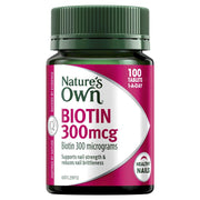 Nature's Own Biotin 300mcg 100 Tablets