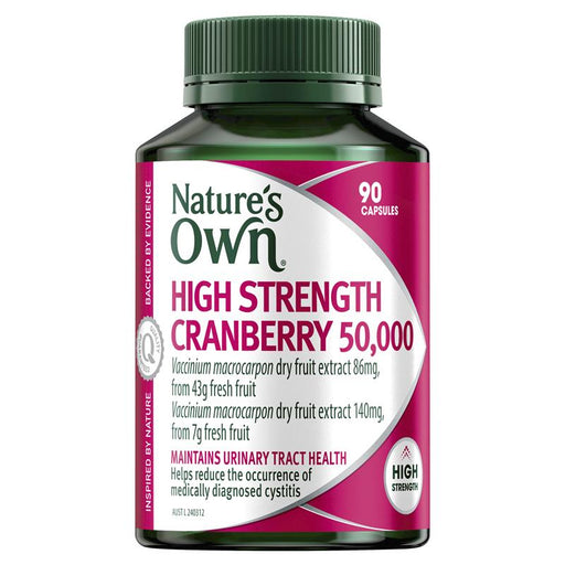 Nature's Own High Strength Cranberry 50000mg 90 Capsules