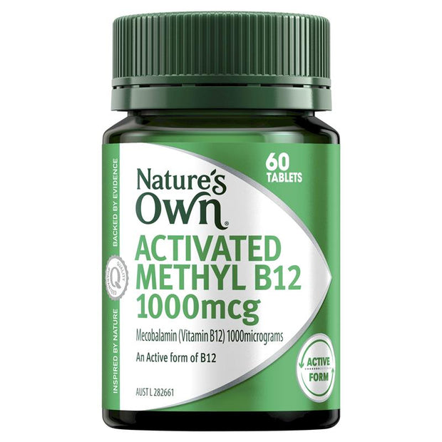 Nature's Own Activated Methyl B12 60 Mini Tablets
