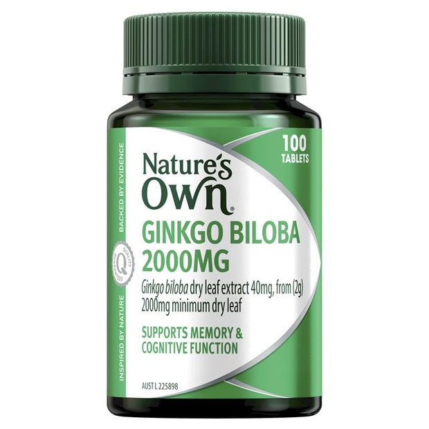 Nature's Own Ginkgo Biloba 2000mg 100 Tablets