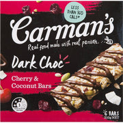 Carman's Nut Bars: Dark Choc Cherry Coconut (6 Bars)