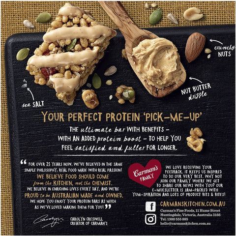 Carman's Protein: Salted Caramel Nut Butter (5 Bars)