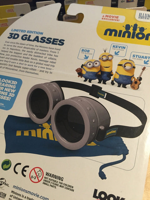 minions 3D Glasses LIMITED EDITION 迷你兵團 3D 眼鏡 限量版