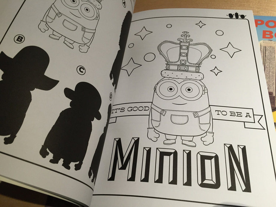 Minions Deluxe Colouring and Activity Book 迷你兵團填色遊戲書