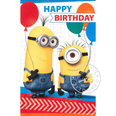 minions Birthday Card - Baloons 生日卡