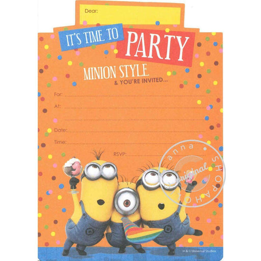 minions Invitation Cards - It's time to Party 派對邀請卡