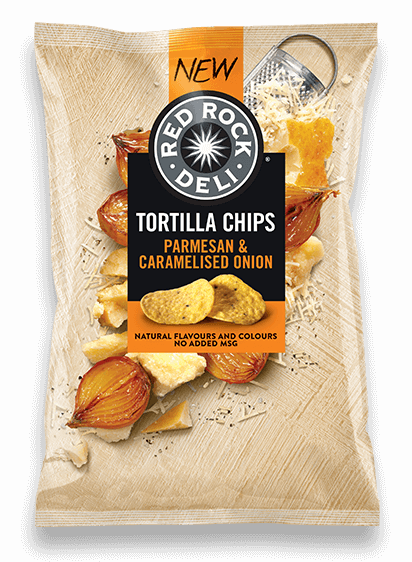 Tortilla Chips - Parmesan & Caramelised Onion