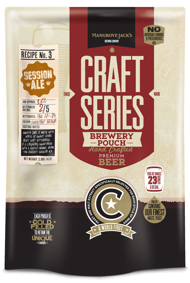 Mangrove Jack's Craft Series Brewery Pouches - Session Ale