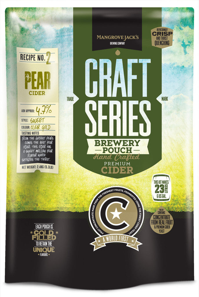 Mangrove Jack's Craft Series Pear Cider Pouch