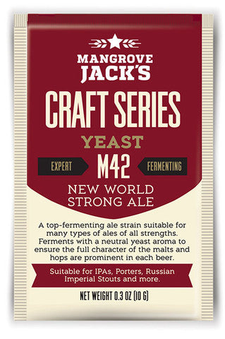 Mangrove Jack's M42 New World Strong Ale Yeast 10g