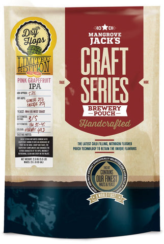 Mangrove Jack's Craft Series Pink Grapefruit IPA Pouch with Dry Hops - Limited Edition