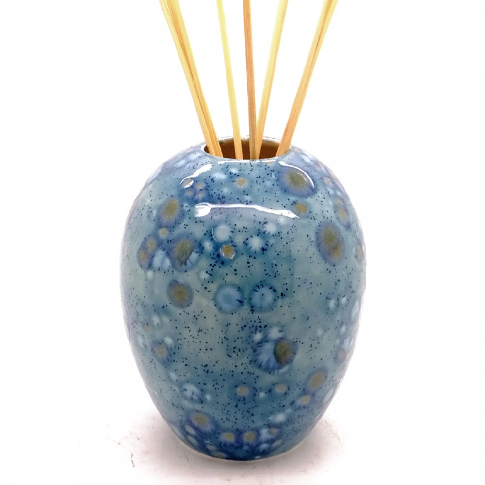 Ceramic Dovedale Reed Diffuser Jar - Egg Vase Mermaid Blue