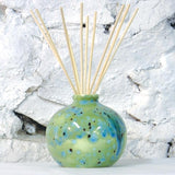 Ceramic Dovedale Reed Diffuser Jar - Round Ripple Green No 75