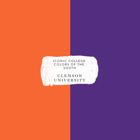 Clemson university colors iconic college colors