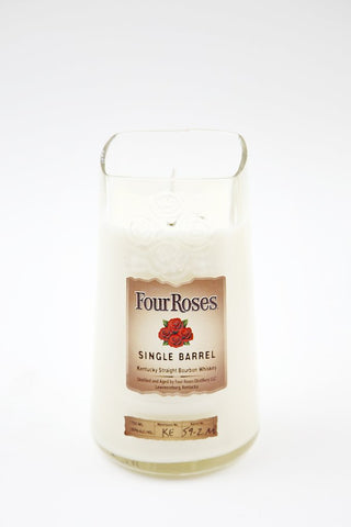 four roses reclaimed bourbon bottle candle
