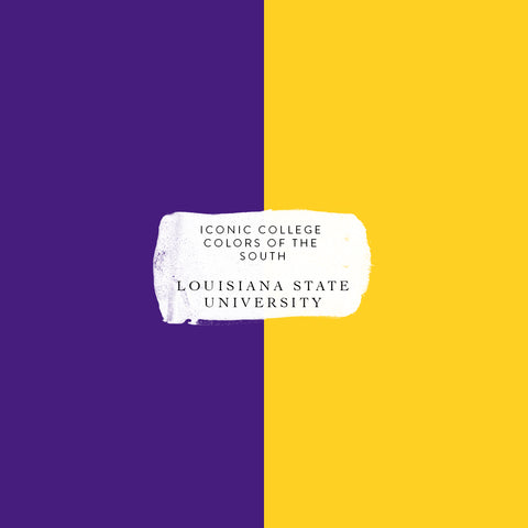 LSU colors iconic college colors