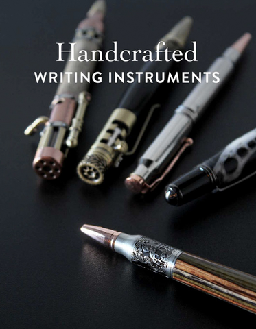 Handcrafted pens are available in rollerball, fountain, stylus.