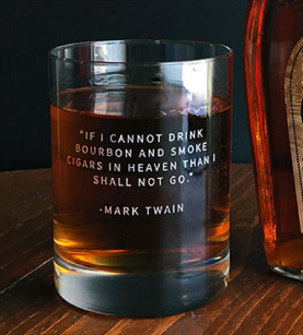 mark twain bourbon glass