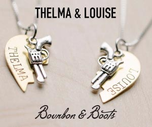 thelma and louise, necklace, friendship necklace