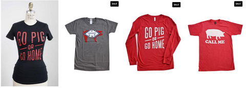 Go Pig or Go Home shirts. Support the University of Arkansas Razorbacks with this Go Pig shirt.