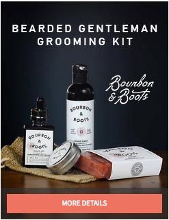 Bearded Gentleman's Grooming Kit from Bourbon and Boots